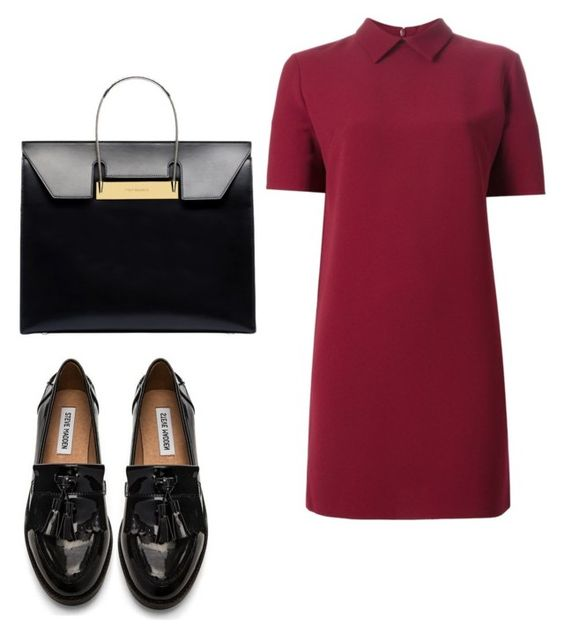 """Untitled #534"" by ary-polyvore-outfits ❤ liked on Polyvore featuring P.A.R.O.S.H., Steve Madden and Balenciaga"