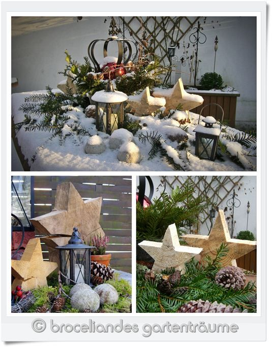Deko and garten on pinterest for Weihnachtsdeko aussen dekoration
