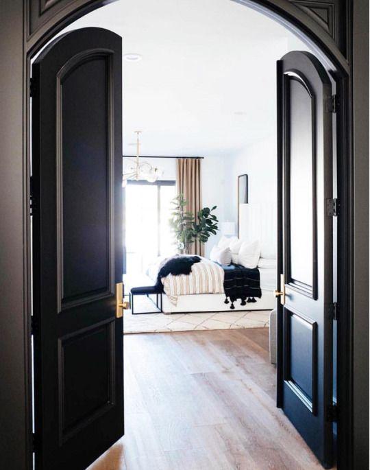 Glamorous Interior Design Black Lacquer Doors Elegant Living