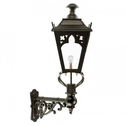 Black Gothic Wall Lantern On Ornate Bracket 102 X 54cm Wall Lantern Lanterns Outdoor Wall Lantern