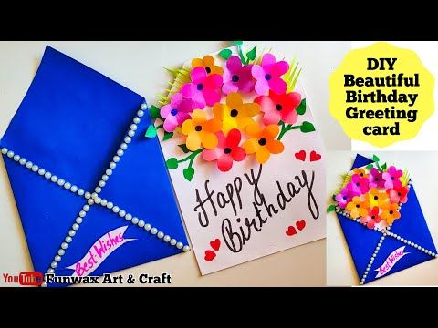 Diy Happy Birthday Card Handmade Easy Card Tutorial Make Birthday Greeting C Happy Birthday Cards Handmade Happy Birthday Cards Diy Birthday Greeting Cards