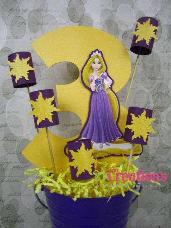 Tangled rapunzel and lanterns centerpiece by creations