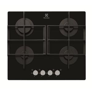 ELECTROLUX - EGT6342YOK _ Table de cuisson Gaz - 1 foyer rapide 3,1 kW - Allumage intégré aux manettes - Sécurité gaz par thermocouple - Grilles fonte.