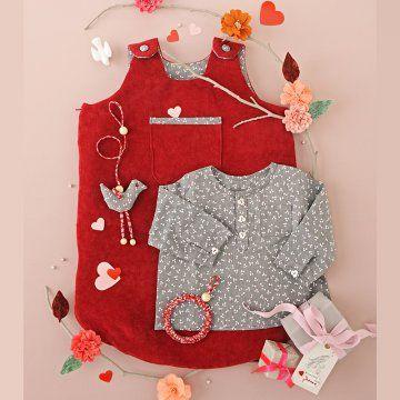 Coudre une gigoteuse et une blouse pour bébé / A shirt and pyjamas for a baby