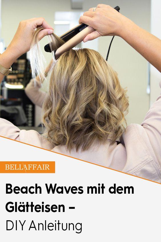 Beach Waves Mit Dem Glatteisen Diy Anleitung Locken Machen Beach Waves Frisur Kurze Haare Anleitungen
