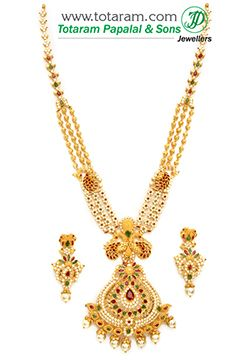 Totaram Jewelers: Buy 22 karat Gold jewelry & Diamond jewellery from India: Gold Necklace Sets