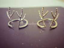 antler ring in gold or silver, deer ring