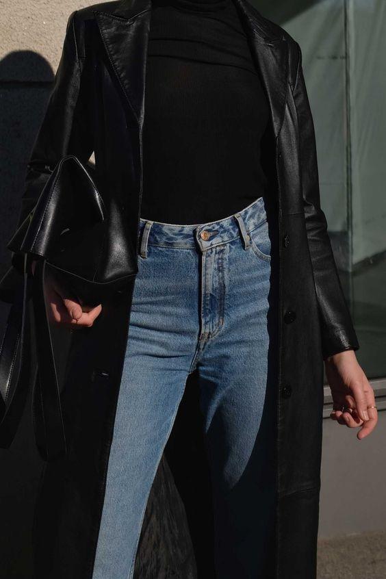 Sobreposição com calça jeans charmoso
