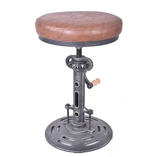 Stupendous Details About Vintage Counter Leather Bar Stools Adjustable Beatyapartments Chair Design Images Beatyapartmentscom