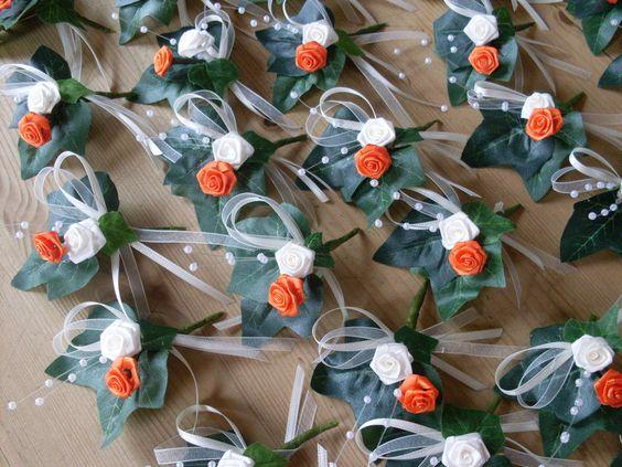 Gästeanstecker Hochzeit 50 St. von Kränzchen und Co. auf DaWanda.com
