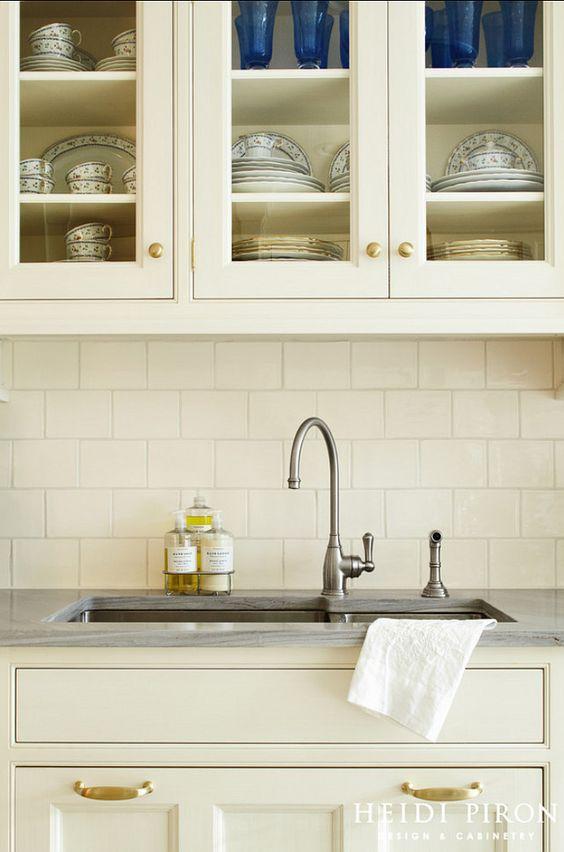 Is Mixing Kitchen Cabinet Finishes Okay Or Not: Kitchen Hardware Ideas. Brass Hardware. White Kitchen