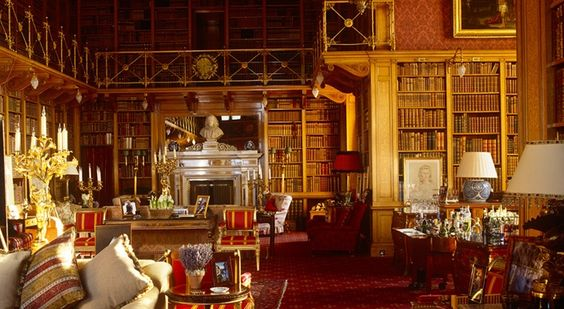 Sigh, that library!!  Alnwick Castle | Castle UK, Northumberland