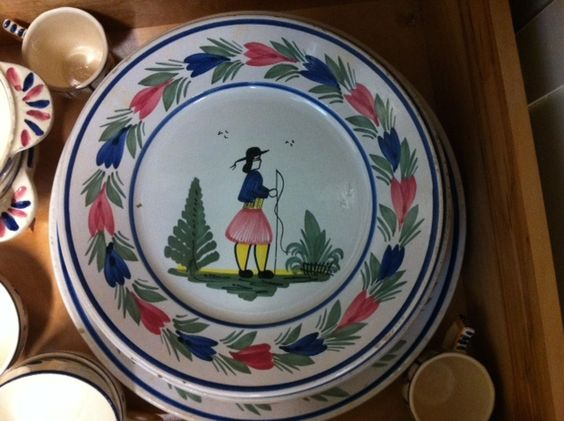 Fiona at #154 has this beautiful Quimper Pottery.