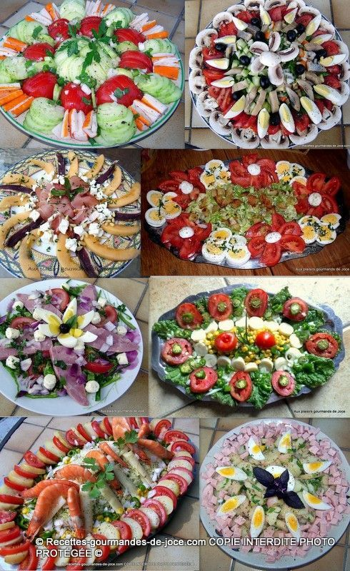 Presentation Of Dishes Of Raw Vegetables Presentation Salade Cuisine Recette Buffet Froid