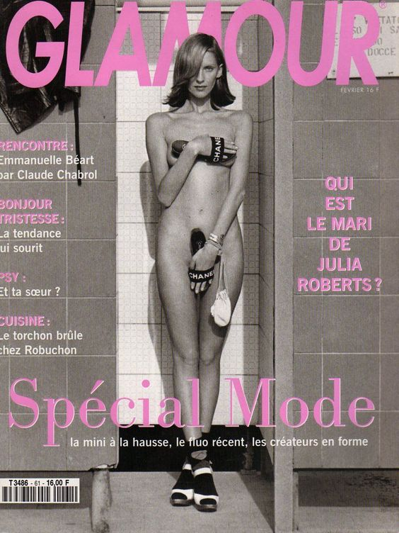 Susie Bick by Marc Hispard and Carine Roitfeld for Glamour France feb 1994