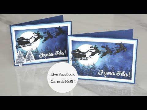 LIVE FACEBOOK   Carte de Noël !   YouTube | Stampin up, Noel