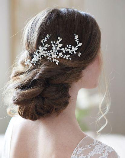 Dareth Colburn Quinn Floral Vine Hair Clip (TC-2313) Wedding Hair Pin, Comb + Clip | The Knot