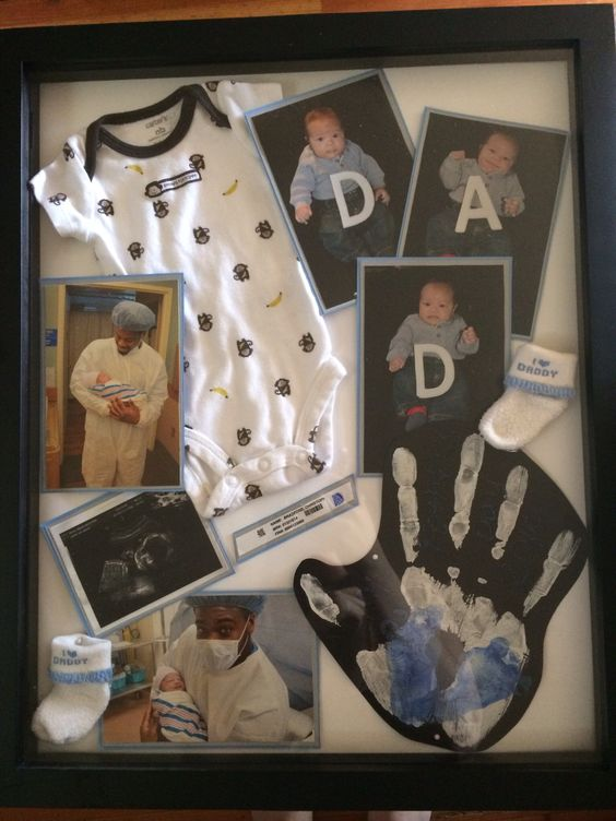 First Father S Day Shadow Box Baby Pinterest Father