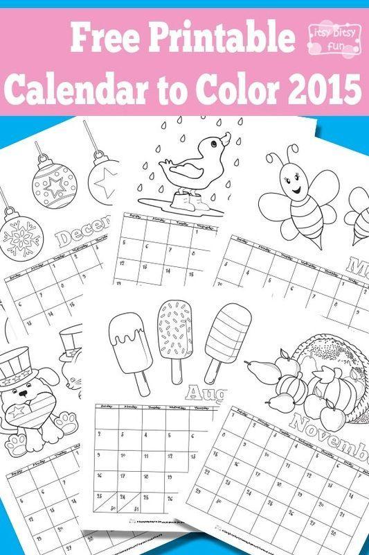 Calendar Pictures For Kids : Printable calendar for kids