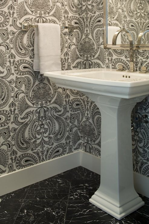 Powder Rooms Powder And Wallpapers On Pinterest
