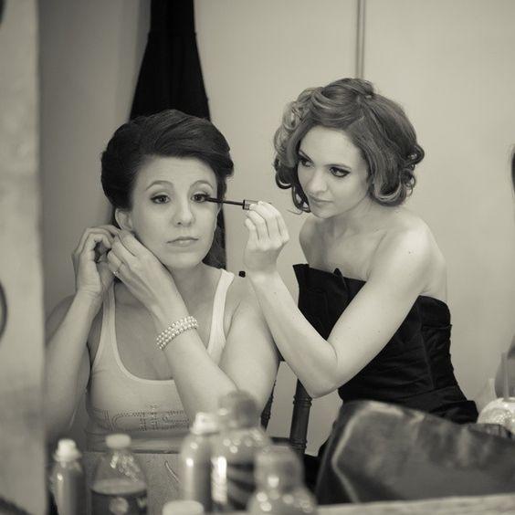 Finishing up Tiffany Becker's make-up on her wedding day! #TiffanyBeckerWedding #hairandmakeupdesign #lavandesalon #jessicajung #weddingdesign