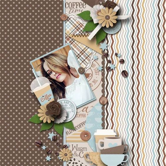 Layout using {Coffee Bean} Digital Scrapbook Kit by Jennifer Labre Designs available at Pickleberrypop http://www.pickleberrypop.com/shop/product.php?productid=45992&page=1 #jenniferlabredesigns