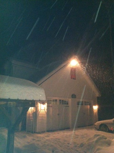 Snowing in Vermont