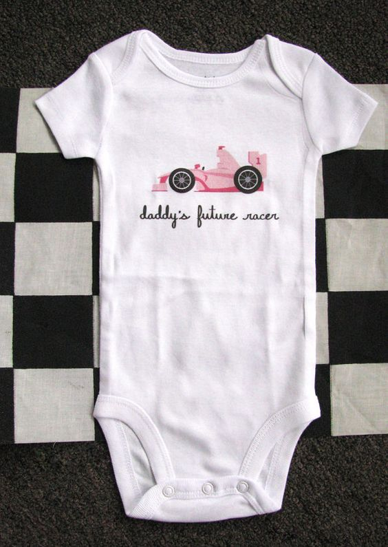 Daddys Pit Crew Racing Baby One Piece or Toddler T-Shirt