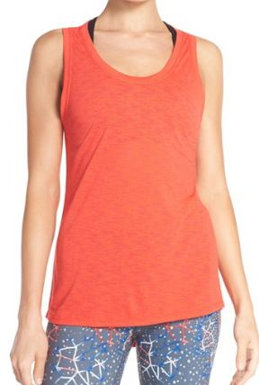 red poppy backless tank