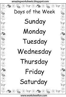 math worksheet : days of the week worksheets  days of the week  pinterest  : Days Of The Week Worksheets For Kindergarten
