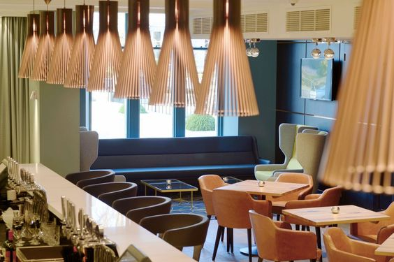 Secto 4200 pendants by Secto Design, bringing light to the restaurant of the recently refurbished five star Hotel Chester, located in Aberdeen, UK.