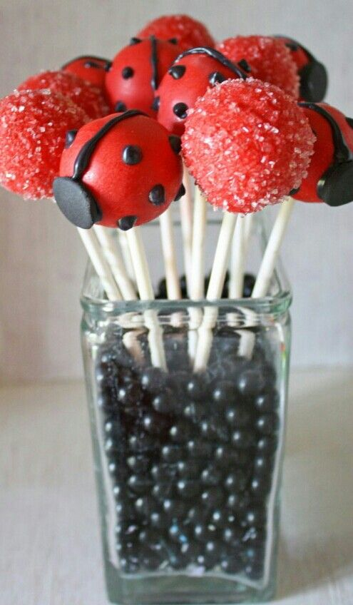 Lady bug pops