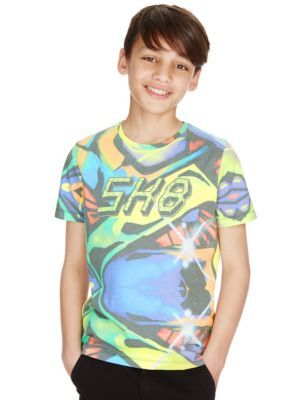Skate Sublimation Print T-Shirt (5-14 Years) | M&S