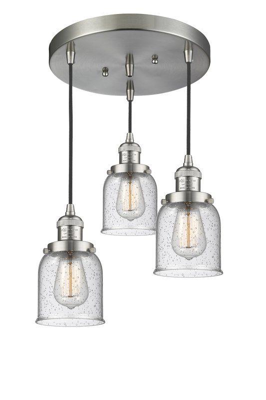 Bourland 3 Light Cluster Bell Pendant Multi Light Pendant Innovations Lighting Light