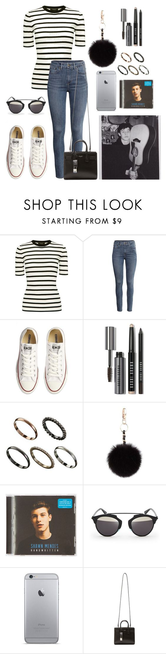 """Out with Shawn #2"" by xxshawnheiz on Polyvore featuring Theory, H&M, Converse, Bobbi Brown Cosmetics, ASOS, Topshop, claire's, Christian Dior e Yves Saint Laurent"