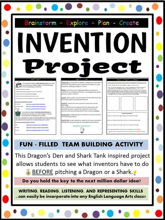 Have you ever wanted to be a part of ABC's Shark Tank, or CBC's Dragons' Den? Well, you now have your shot! You will participate in an invention exposition where you will plan, design and showcase your invention! Students will complete a variety of activating activities, move onto some acquiring lessons, and finish by applying what they have learned.
