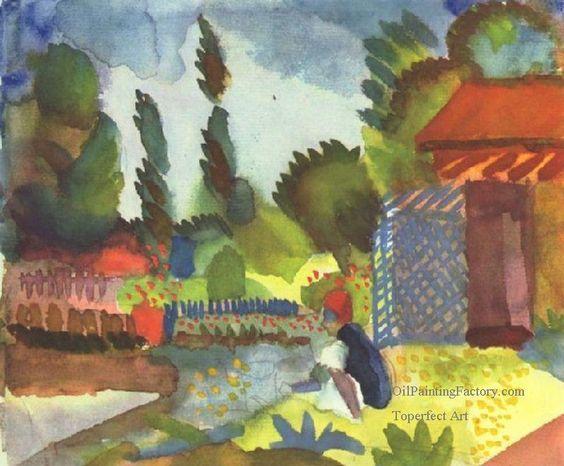 2 Sitting Arab Expressionism August Macke