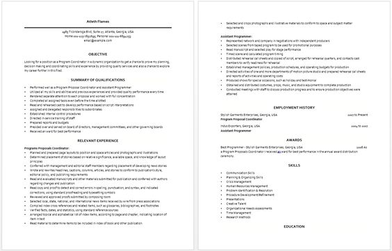Program Coordinator Resume Resume \/ Job Pinterest - human resource coordinator resume