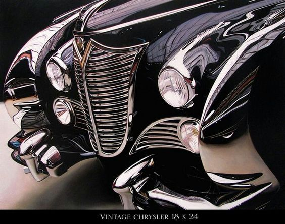 Extraordinary Hyper Realistic Car Paintings By Cheryl Kelley - Astonishing photorealistic paintings of places seen through wet car windshields