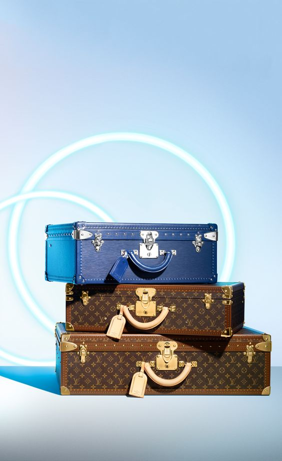 The hard sided luggage from Louis Vuitton is the best travel companion. Ranging in sizes and shapes. Go for a traditional look with Monogram, or add some flair with the colored collection.