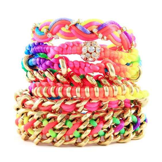 Neon Bracelet Stack - ridiculously over priced, but cute!