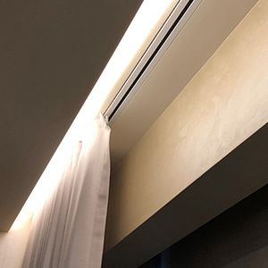 Recessed Curtain Tracks For Somfy Lutron And Silent Gliss