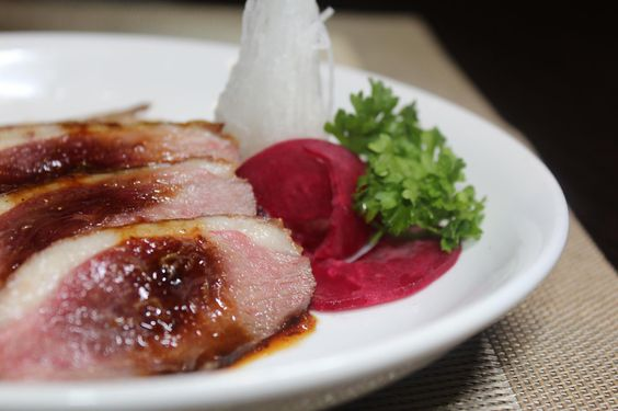 Shin Minori's French Duck Breast with Red Miso Sauce