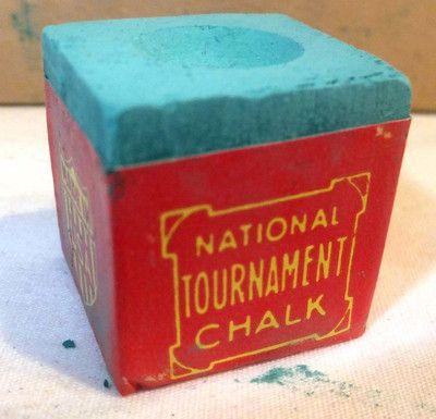 Vintage BLUE National Tournament Billiard CHALK NCCB Pool Chalk CHICAGO 53 PIECE