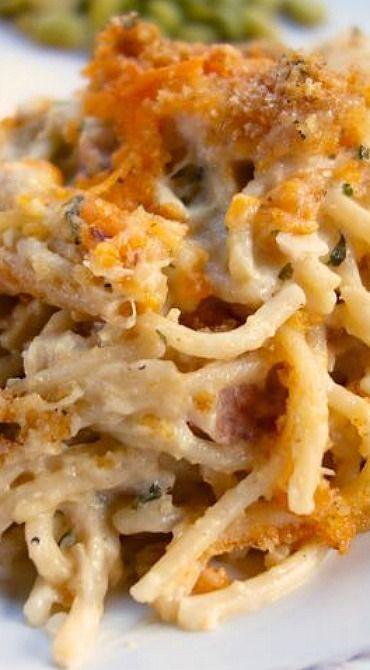 Cheesy Chicken Spaghetti Casserole Recipe I like this recipe a lot. I added a…