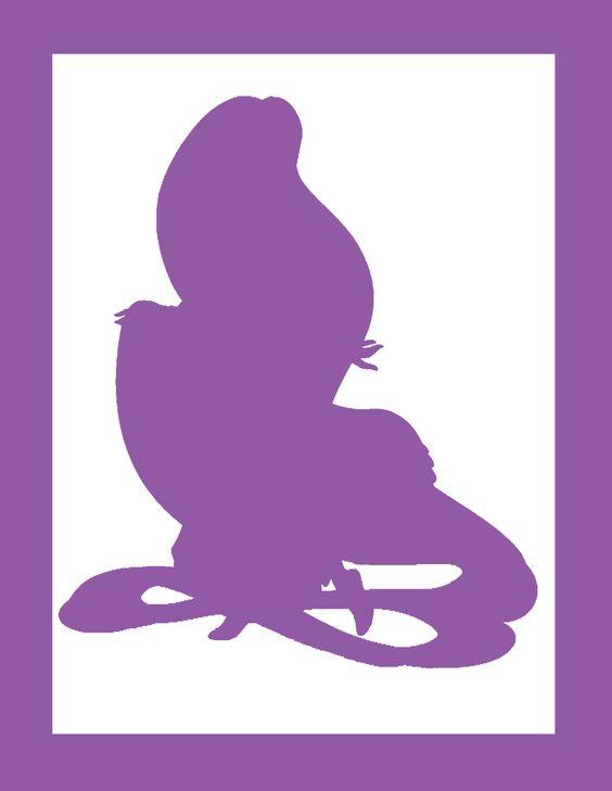 Rapunzel silhouette | Disney Party | Pinterest | Rapunzel ...