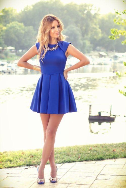 vestido azul marino - Buscar con Google