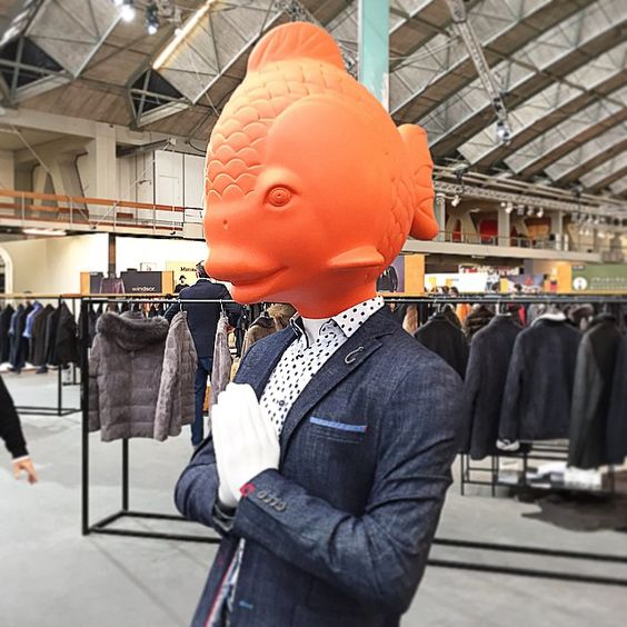 """MODEFABRIEK AMSTERDAM, The Netherlands, """"It is better to be a big fish in a small pond than a small fish in a mighty ocean"""", pinned by Ton van der Veer"""
