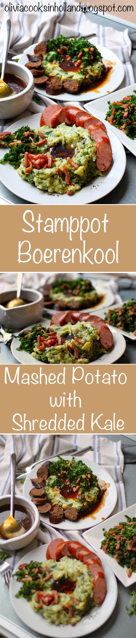 I love this! The Dutch way to cook Kale. It's delicious and easy. The mashed potato is soft and fluffy. The best dutch food for winter time.