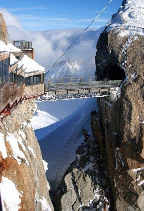 Aiguille du Midi, Chamonix, France  The bridge
